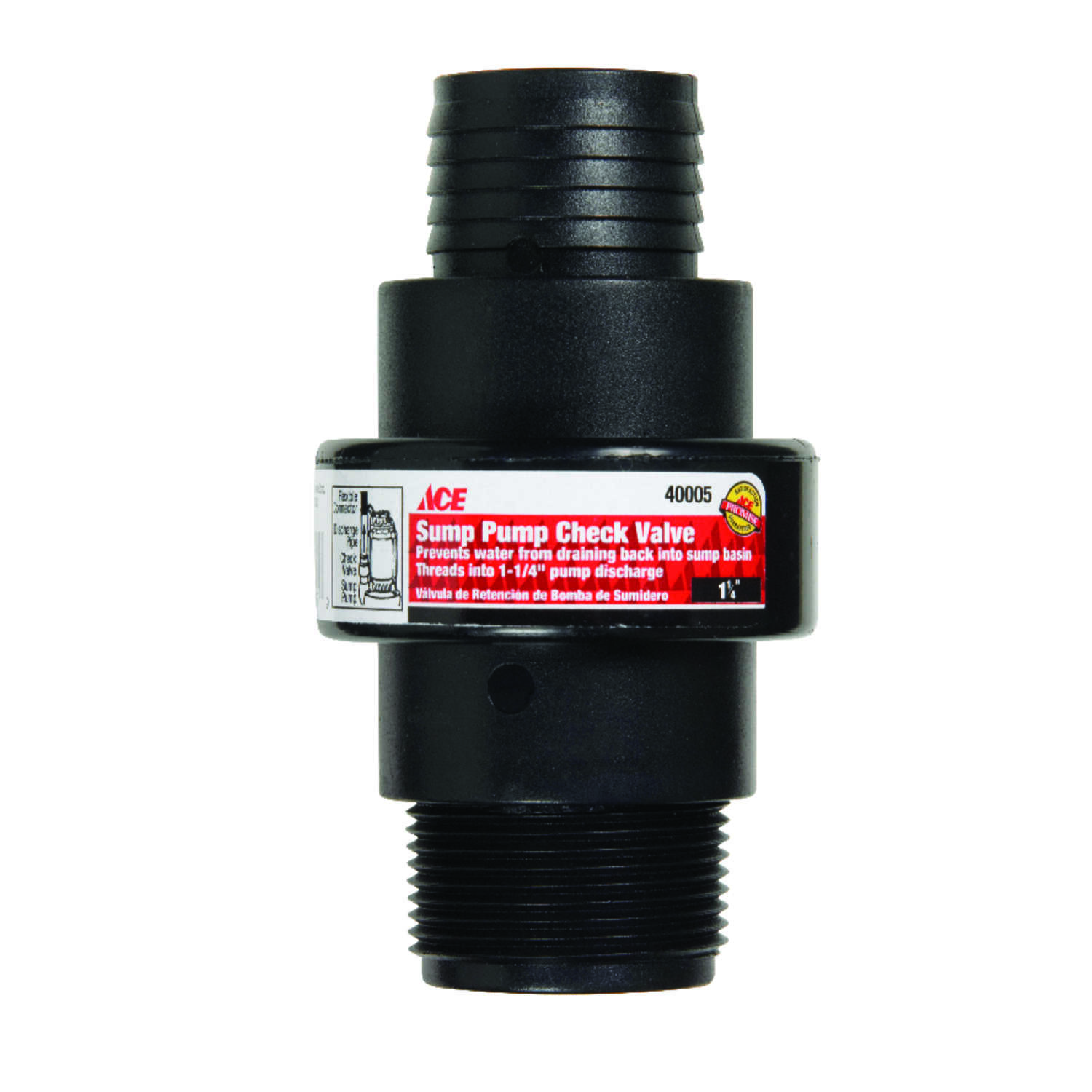 Ace  MPT  ABS Plastic  Swing  Sump Pump Check Valve
