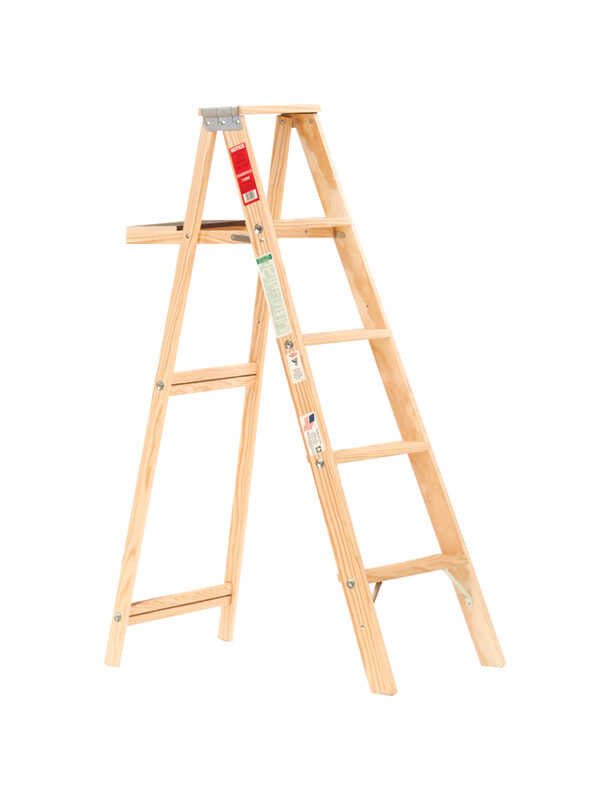 Michigan Ladder  60 in. H Wood  Step Ladder  Type III  200 lb.
