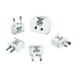 Travel Smart  Type A,  Type B,  Type C, Type E,  Type F,  Type G,  Type I  For Worldwide Adapter Plu