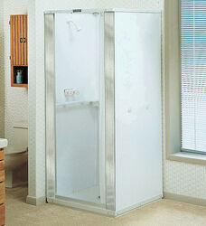 Mustee  Durastall  75.5 in. H x 36.5 in. W x 36.5 in. L White  Shower Stall