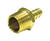 JMF  Brass  1/4 in. Dia. x 3/8 in. Dia. Adapter  1 pk Yellow