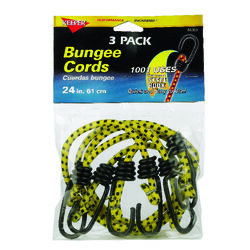 Keeper  Yellow  Bungee Cord  24 in. L x 0.315 in.  1 pk