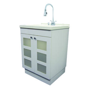 Exquisite Freestanding Melamine Faced Chipboard Utility Sink And Cabinet Kit