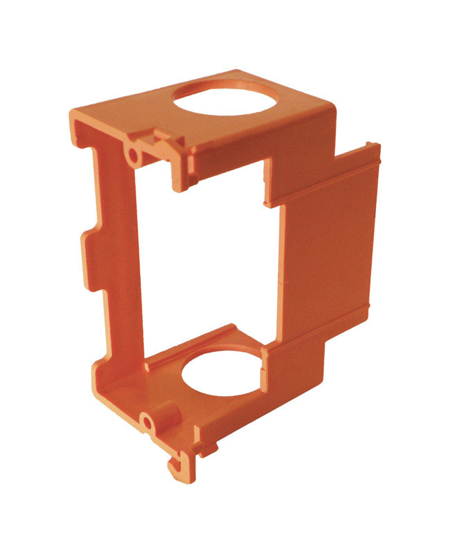 Cantex  2-1/2 in. Rectangle  1 Gang  PVC  Junction Box  Orange