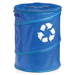 Coghlan's  Pop-Up  Blue  Recycle Bin  24 in. H x 19 in. W x 1.000 in. L 1 pk