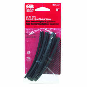 Gardner Bender  Heat Shrink Tubing  Black  8 pk