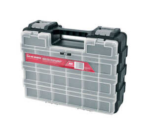 Ace  5-9/16 in. L x 11-7/16 in. W x 14-9/16 in. H Double-Sided Organizer  Plastic  18 compartment Gr
