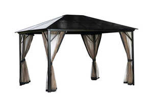 Forum Outdoor Living  Villanova  Nylon  Gazebo  102 in. H x 144 in. W x 120 in. L