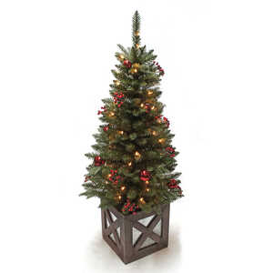 Celebrations  Marbleton Porch  Clear  Prelit 4 ft. Porch Tree  50 lights 288 tips Christmas