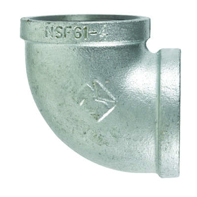 BK Products  2-1/2 in. FPT   x 2-1/2 in. Dia. FPT  Galvanized  Malleable Iron  90 Degree Elbow