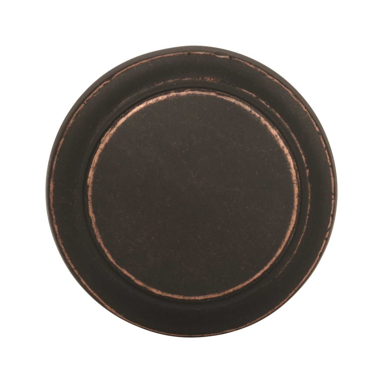 Amerock  Highland Ridge Collection  Round  Cabinet Knob  1-3/16 in. Dia. 1-1/4 in. Dark Oiled Bronze