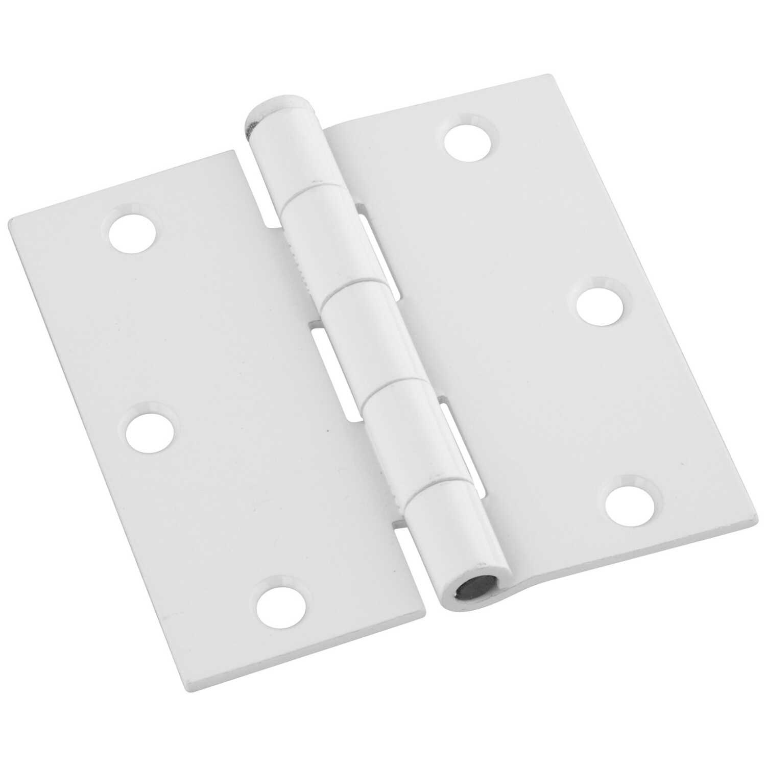 National Hardware  3-1/2 in. L White  Door Hinge  3 pk