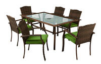 Deals on Living Accents 7 pc. Gray Steel Peyton Dining Set Green