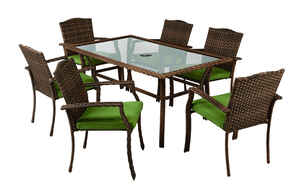 Living Accents  7 pc. Peyton  Dining Set  Green