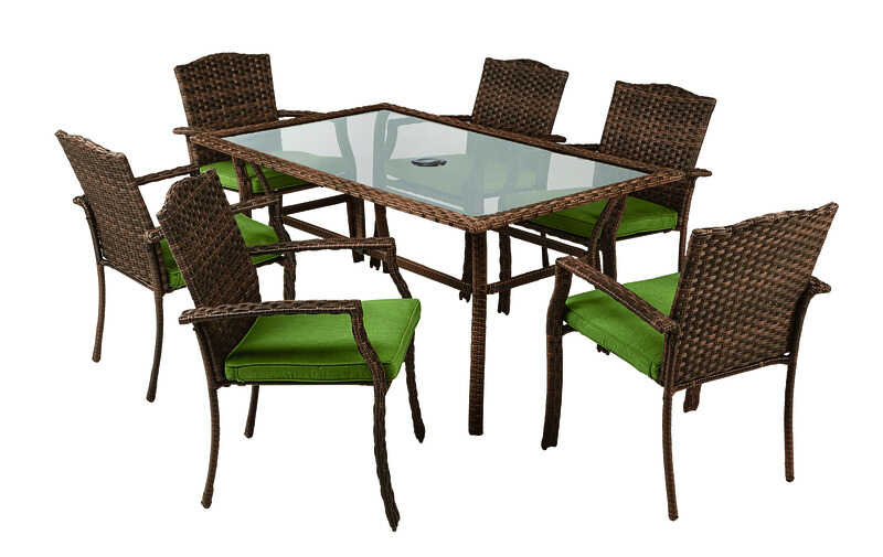 Living Accents  Peyton  7 pc. Gray  Steel  Set  Green