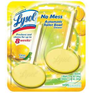 Lysol  Lemon Scent Automatic Toilet Bowl Cleaner  2.82 oz. Tablet