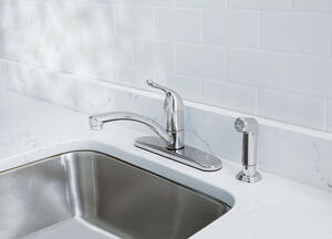 OakBrook  Pacifica  Single Handle Kitchen  One Handle  Chrome  Kitchen Faucet  Side Sprayer Included