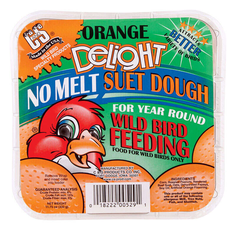 C&S Products  Orange Delight  Assorted Species  Suet  Beef Suet  11.75 oz.