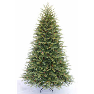Greenfields  Multicolored  Prelit Sutherland  Artificial Tree  750 lights 3770 tips 7-1/2 ft.