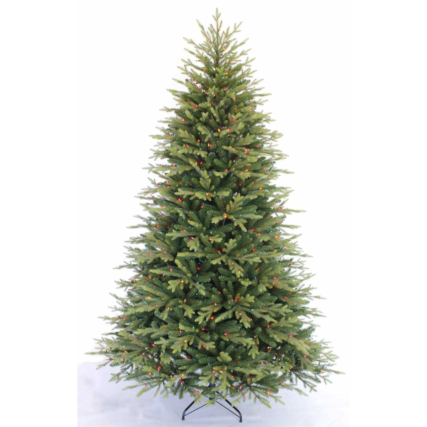 Greenfields  Multicolored  Prelit 7-1/2 ft. Sutherland  Artificial Tree  750 lights 3770 tips