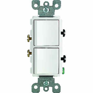 Leviton  15 amps Combination  Switch  White  1 pk