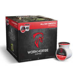 Workhorse Coffee  All Day Smooth Medium Roast  Coffee K-Cups  40 pk