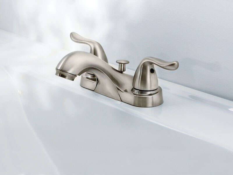 OakBrook  Pacifica  Pacifica  Two Handle  Lavatory Pop-Up Faucet  4 in. Brushed Nickel