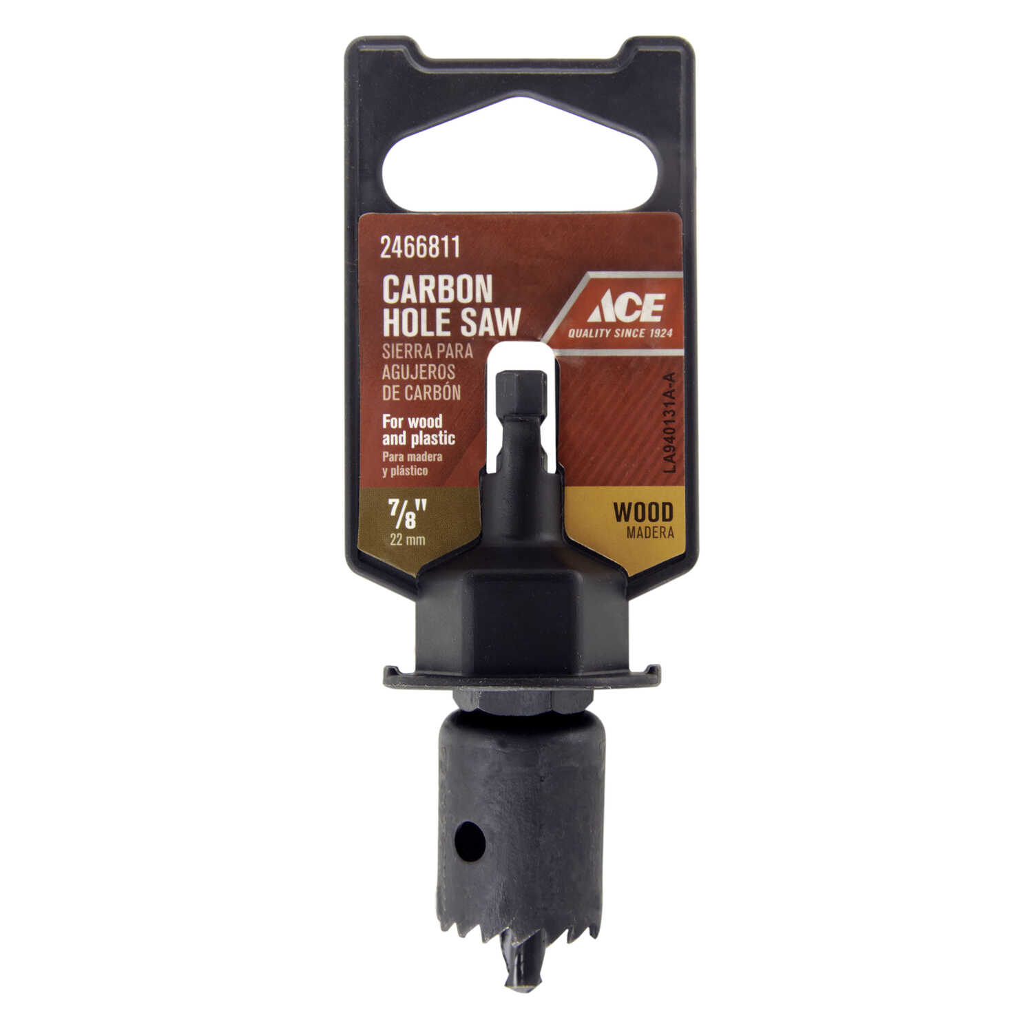 Ace  3/4 in. L x 7/8 in. Dia. Carbon Steel  Hole Saw  1/4 in. 1 pc.