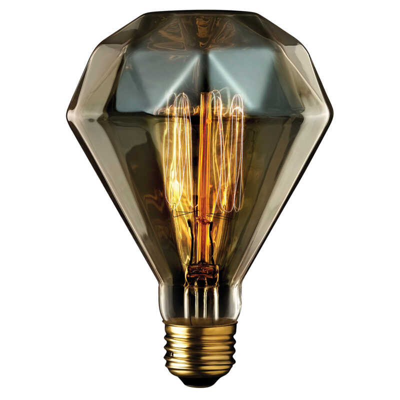 Globe  Diamante  40 watts BR30  Decorative  Incandescent Bulb  E26 (Medium)  Amber  1 pk