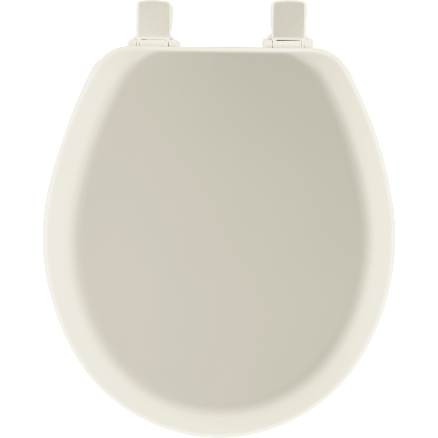 Mayfair  Never Loosens  Round  Biscuit  Molded Wood  Toilet Seat