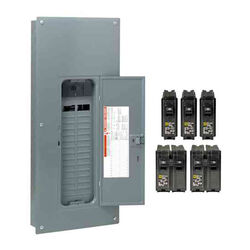 Square D  HomeLine  200 amps 120/240 volt 30 space 60 circuits Wall Mount  Load Center Main Breaker