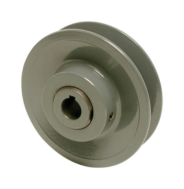Dial  1/2 in. H x 3-1/2 in. W Gray  Variable Motor Pulley  Cast Iron
