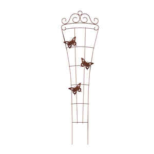 Panacea  72.5 in. H Brown  Steel  Trellis