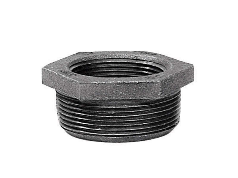 BK Products  2 in. MPT   x 3/4 in. Dia. FPT  Galvanized  Malleable Iron  Hex Bushing