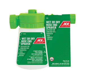 Ace  Wet or Dry  Hose End Sprayer  36 oz.