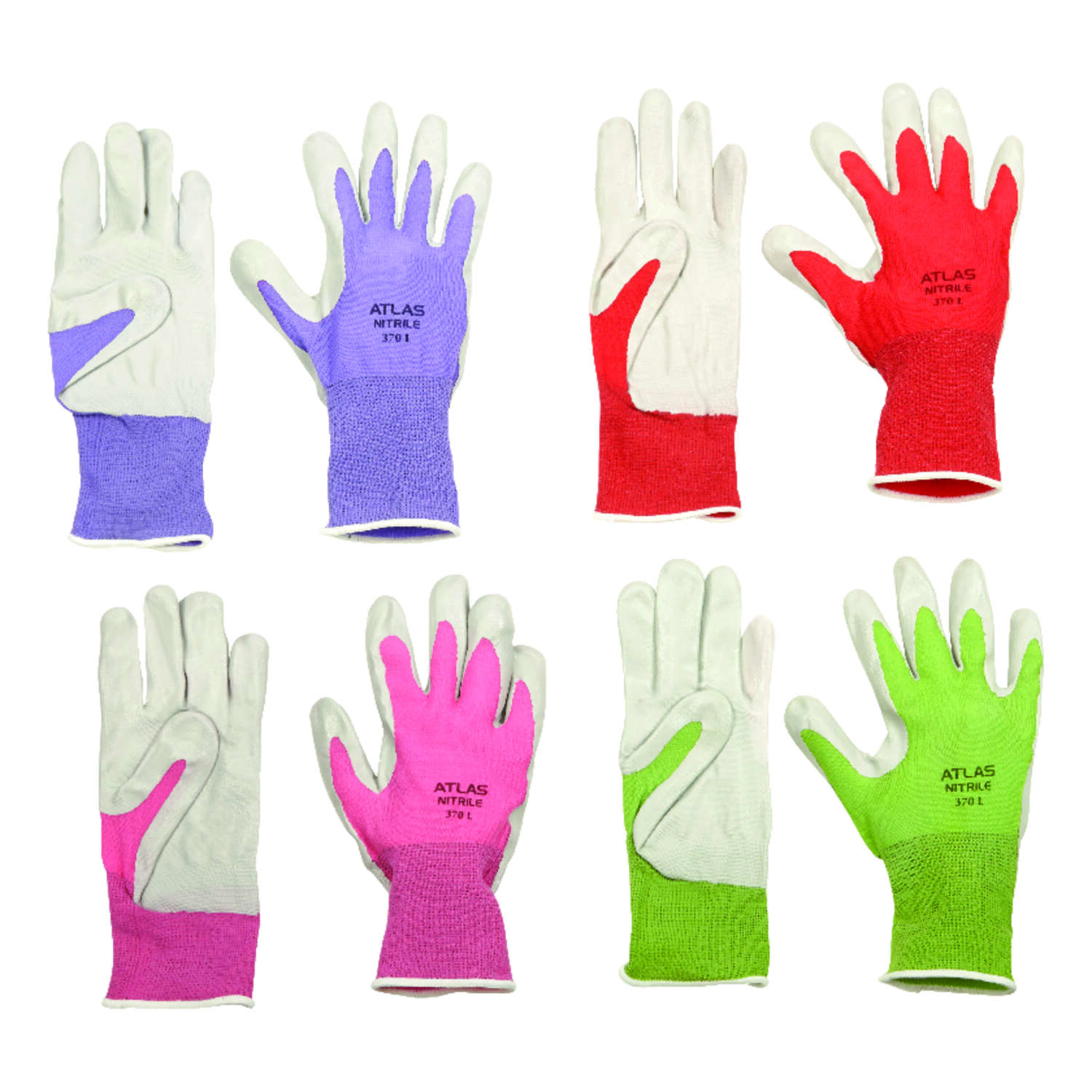 Atlas Unisex Indoor/Outdoor Nitrile Coated Gloves Assorted S 1 pair