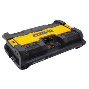 DeWalt  ToughSystem  20 volts Lithium-Ion  Worksite Radio and Charger  1 pc.
