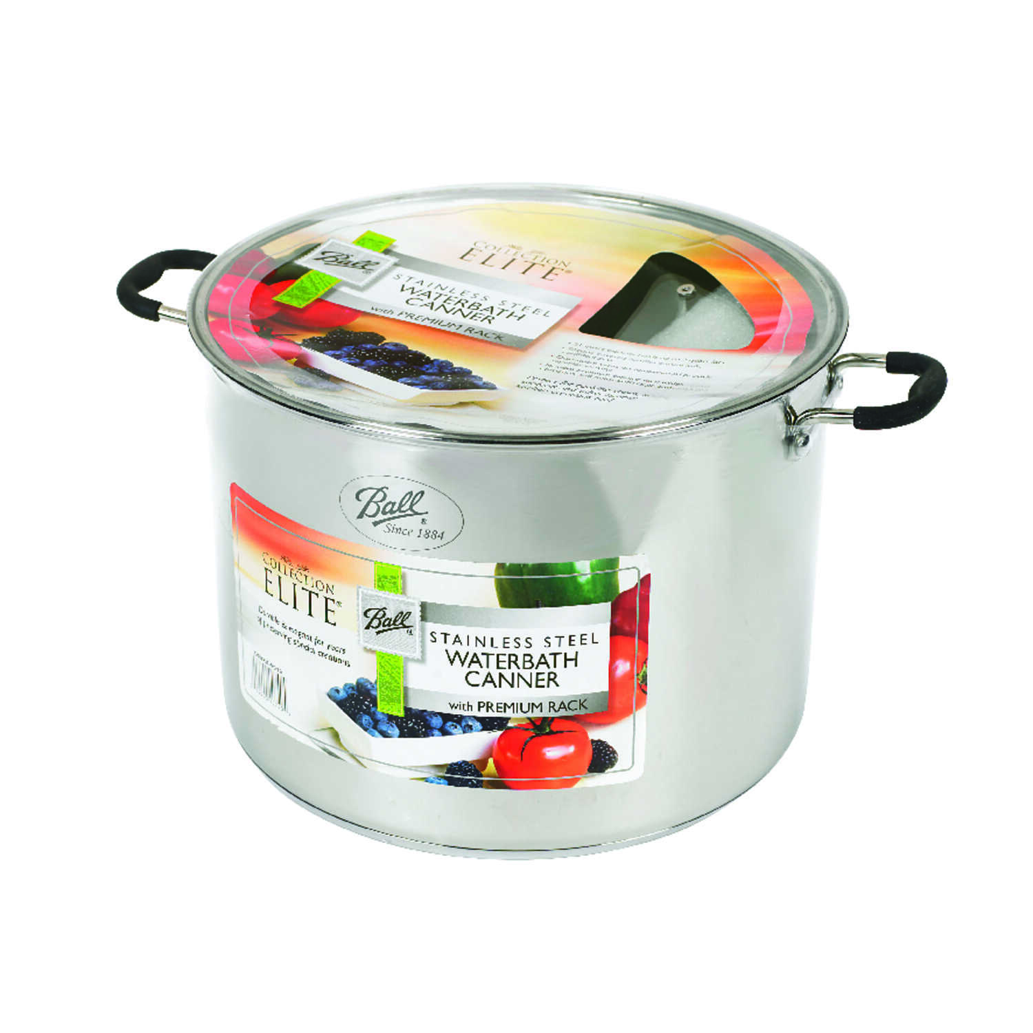 Ball  Collection Elite  Wide Mouth  Water Bath Canner  21 qt. 2 pk