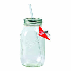 Rednek  Guzzler  Clear  Glass  Mason Jar  1 each