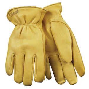 Kinco  Men's  Outdoor  Deerskin  Driver  Work Gloves  Gold  L  1 pair