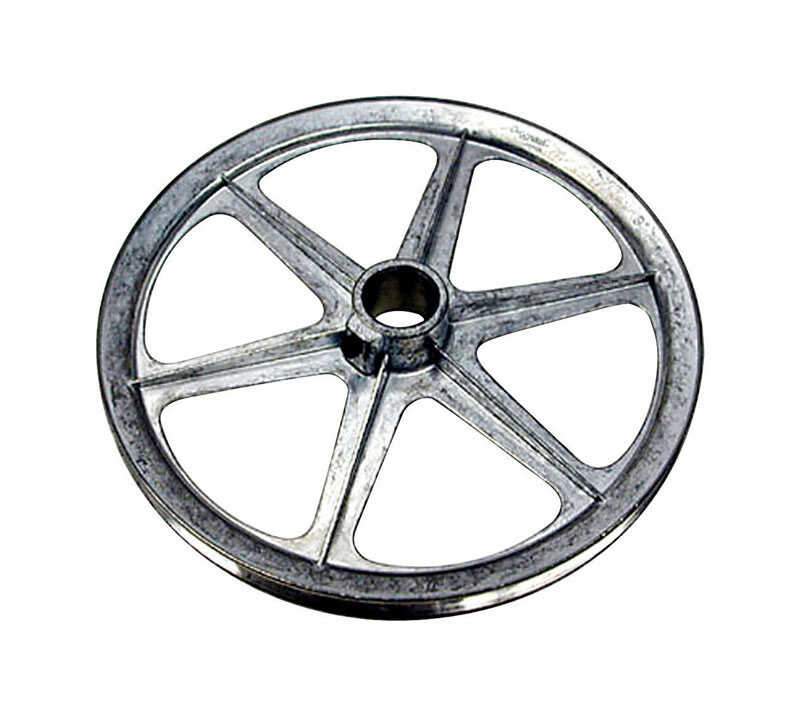 Dial  11 in. H x 11 in. W Zinc  Silver  Blower Pulley