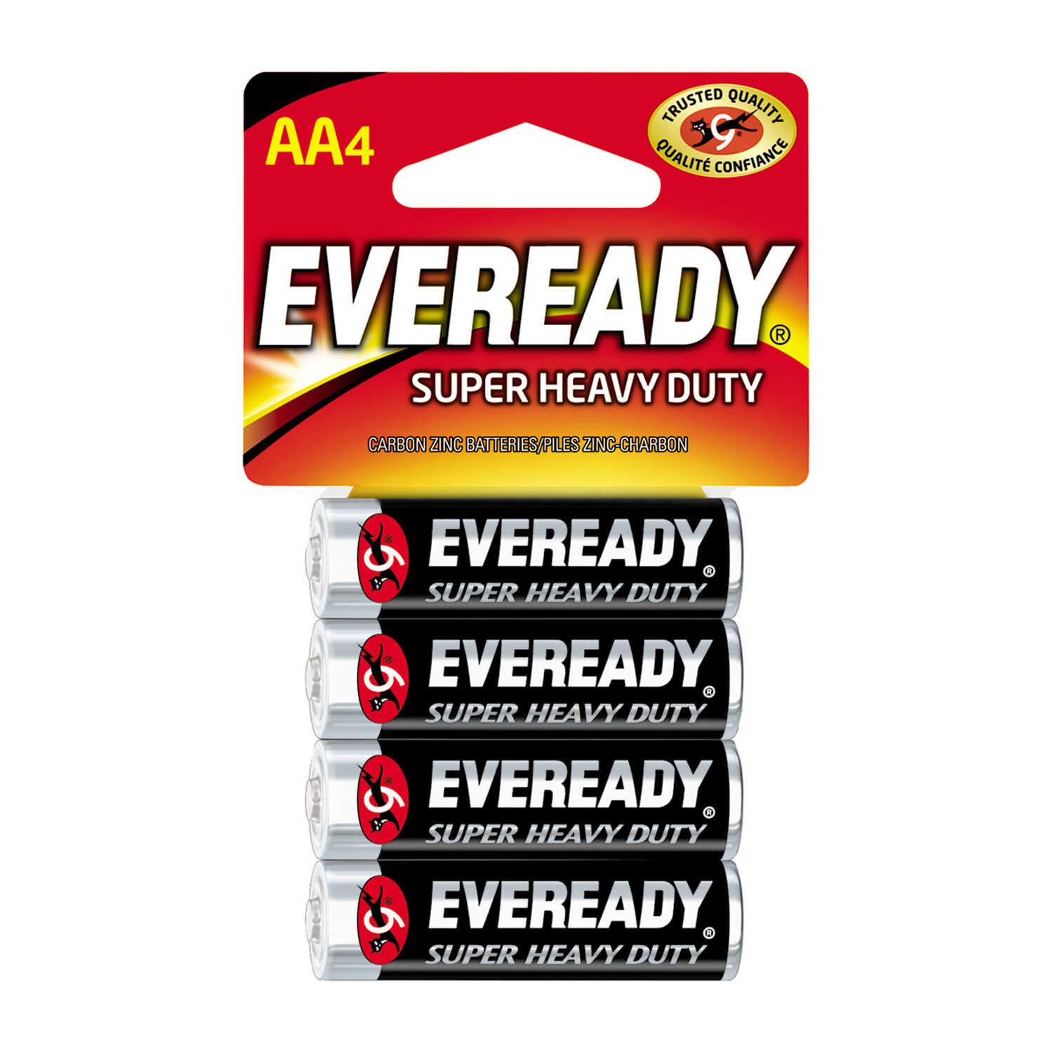 Eveready  Super Heavy Duty  AA  Zinc Carbon  Batteries  4 pk Carded  1.5 volts