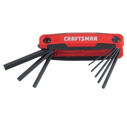 Craftsman .31 Metric Fold-Up Hex Key Set 8 in. 8 pc.