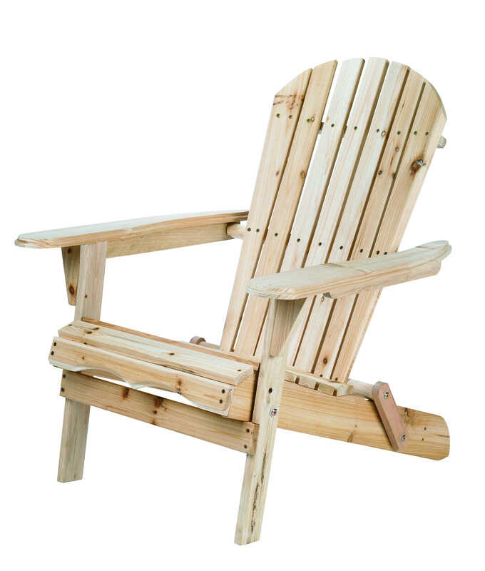 Living Accents  Foldable  Natural  Wood  Foldable  Chair