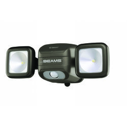 Mr. Beams High Performance Motion-Sensing Battery Powered LED Dark Brown Security Light