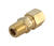 JMF  3/8 in. Compression   x 1/8 in. Dia. Brass  Connector