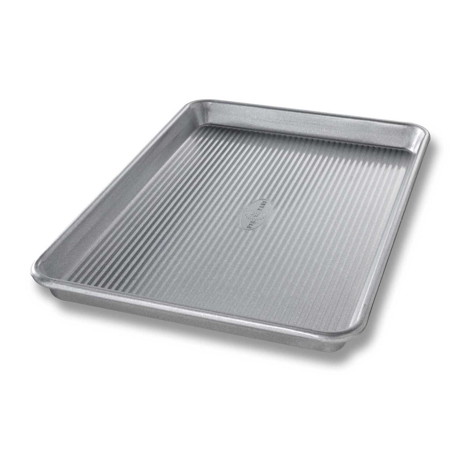USA Pan  9-3/4 in. W x 14-3/4 in. L Jelly Roll Pan  Silver