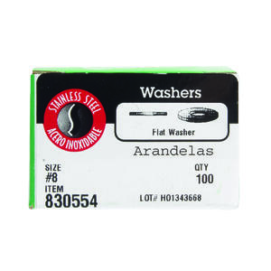 Hillman  Stainless Steel  .164 in. Flat Washer  100 pk