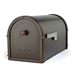 Architectural Mailboxes  Bellevue  Modern  Galvanized Steel  Post Mounted  Rubbed Bronze  Mailbox  1