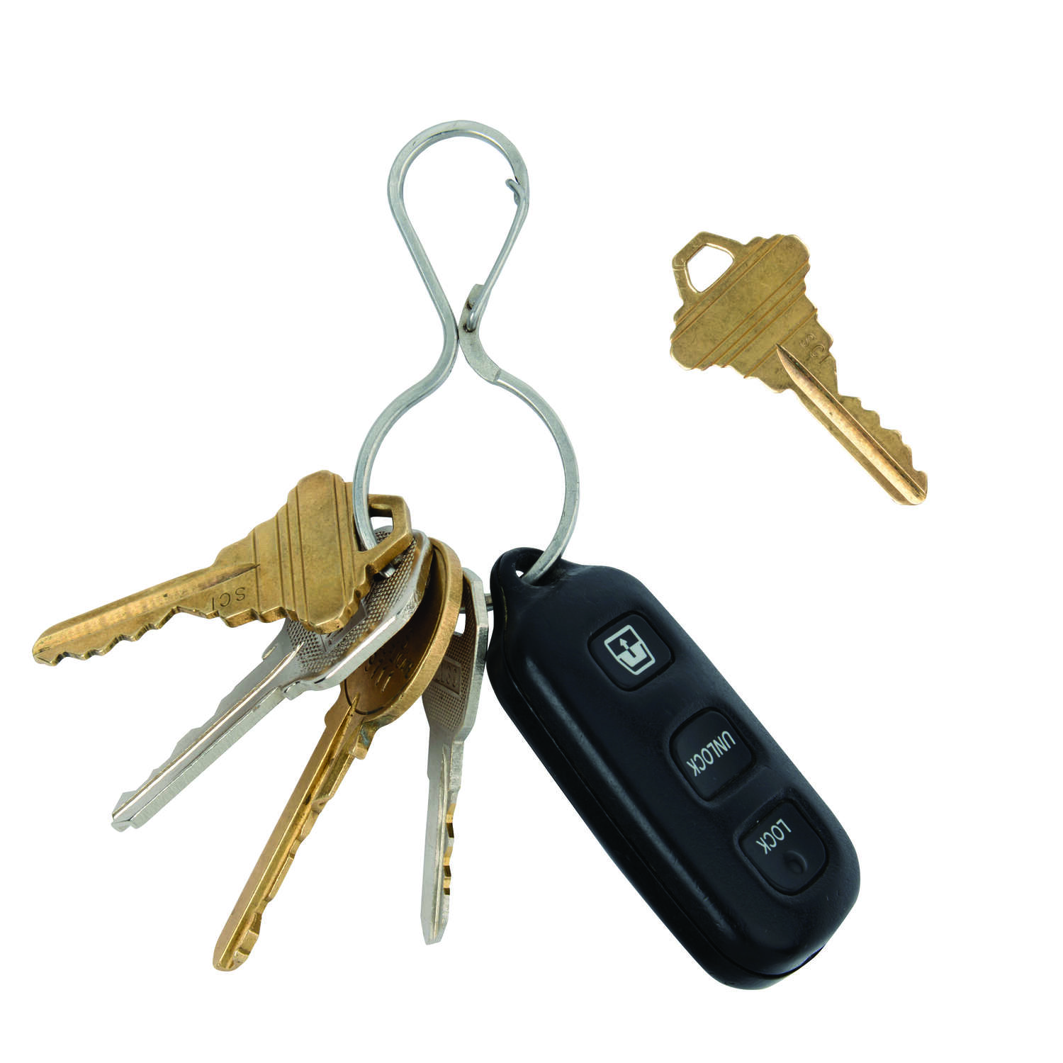 Nite Ize  Infini-Key  2 in. Dia. Stainless Steel  Silver  Key Ring  Key Ring
